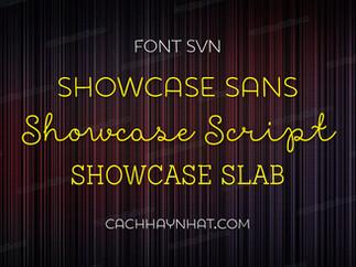 Download font SVN Showcase Family Việt hóa