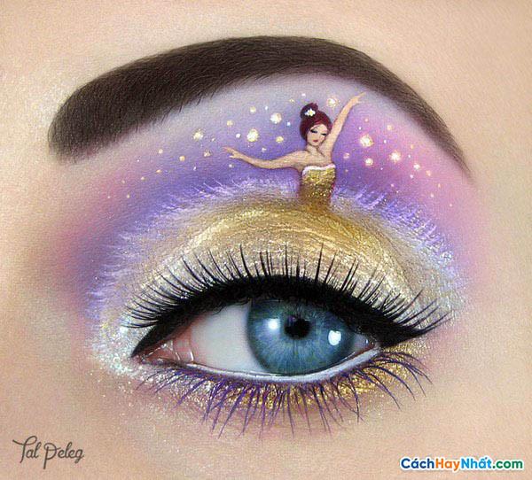 Trang điểm mắt công chúa của tal peleg