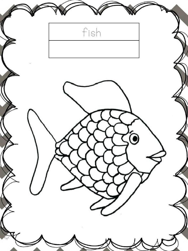 Tập tô màu động vật cho bé - con cá - fish