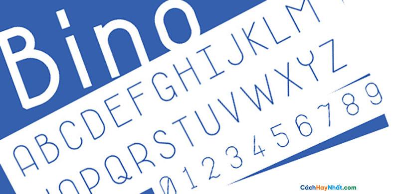 Download Free Font Bino