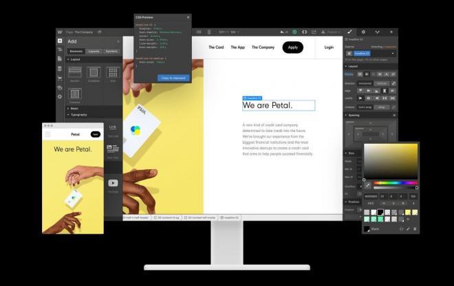 Phần mềm thiết kế Web hàng đầu webflow