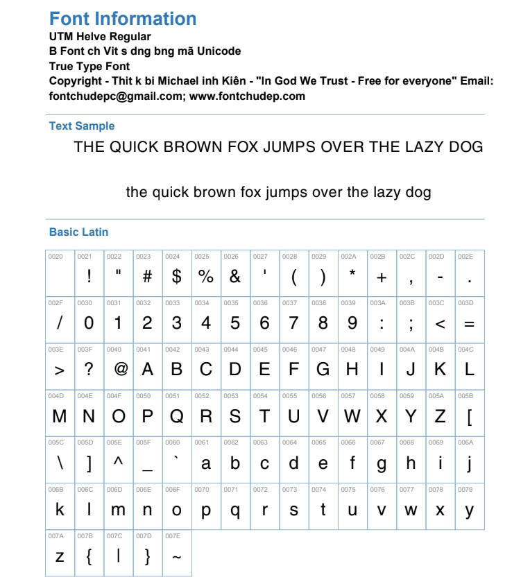 Font UTM Helve Regular