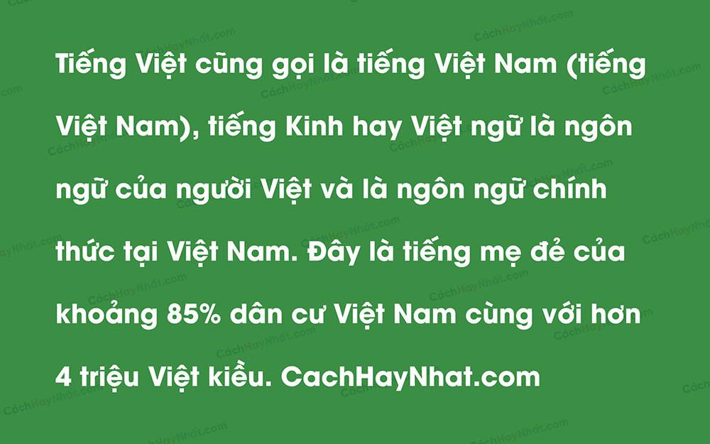 Ảnh mô tả một đoạn văn bản sử dụng font VNI AVO
