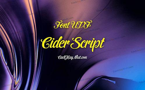 Download Font UVF Cider Script Việt Hóa