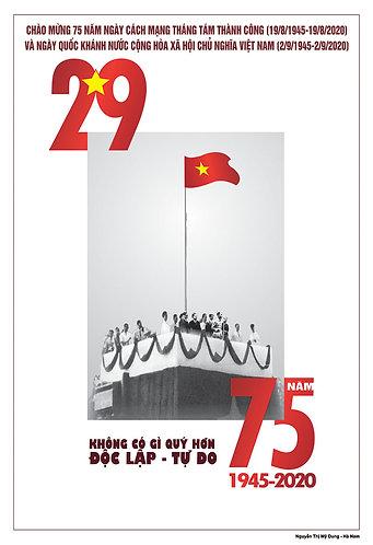 Tranh Tuyên Truyền Cổ Động Cách Mạng T8 và Quốc Khánh 2-9