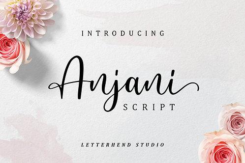 Download Phông Chữ Calligraphy - Anjani Script Modern Calligraphy Font