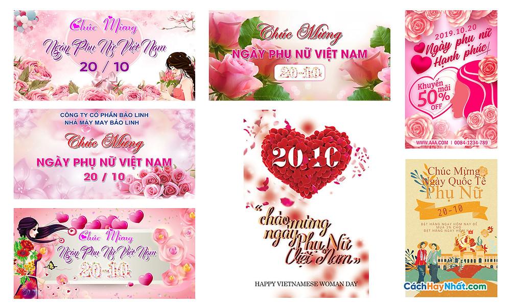 Tải Background Phông Nền Ngày Phụ Nữ Việt Nam 20/10 Photoshop PSD