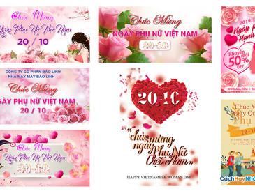 Download Background Phông Nền Ngày Phụ Nữ Việt Nam 20/10 Photoshop PSD Part01
