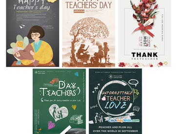 Download Poster Teacher's Day Vecter AI PSD Photoshop Part06