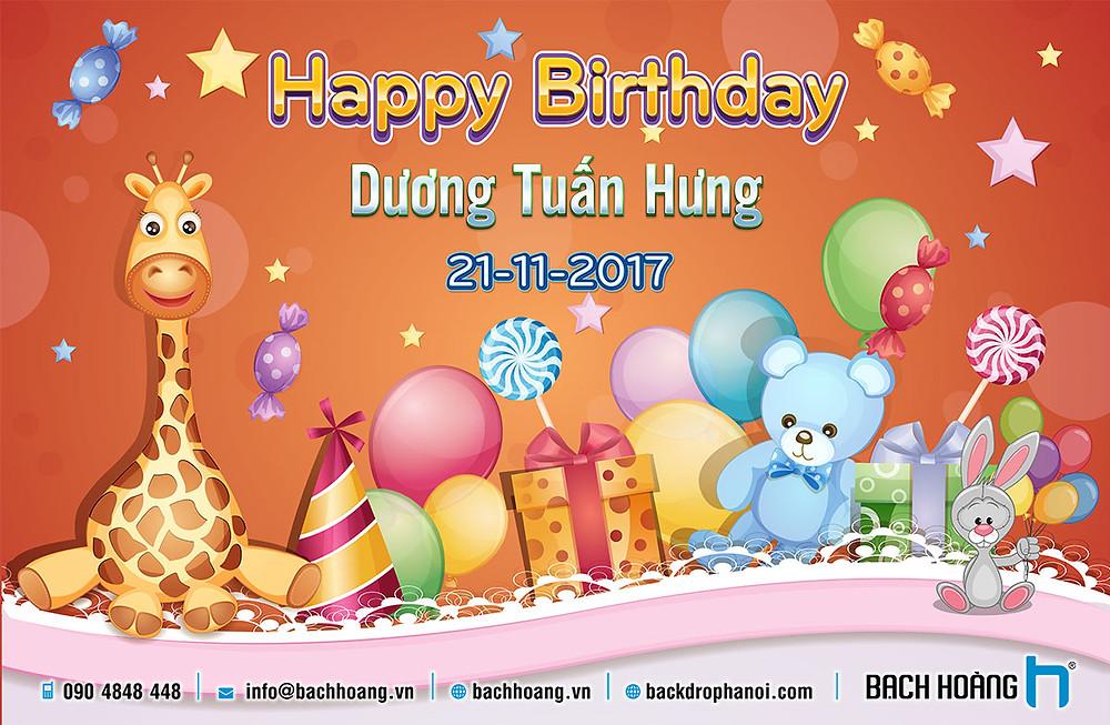Mẫu Backdrop Phông Sinh Nhật đẹp nhất - Happy birthday backdrop