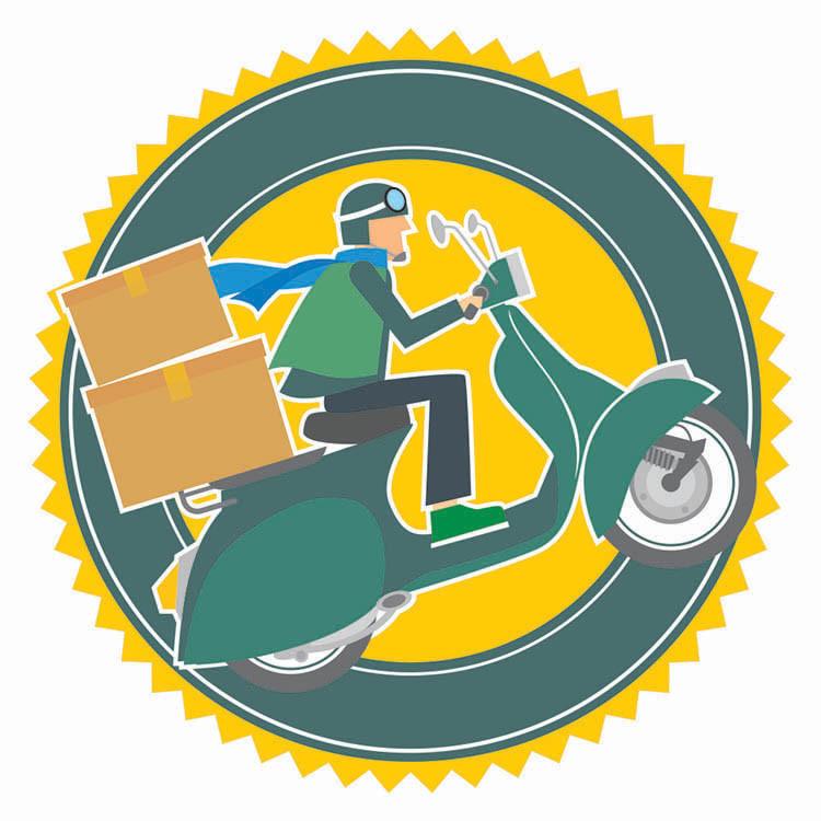 Tem shipper xe máy