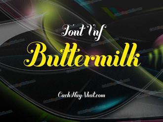 Download font VNF Buttermilk Việt hóa đẹp