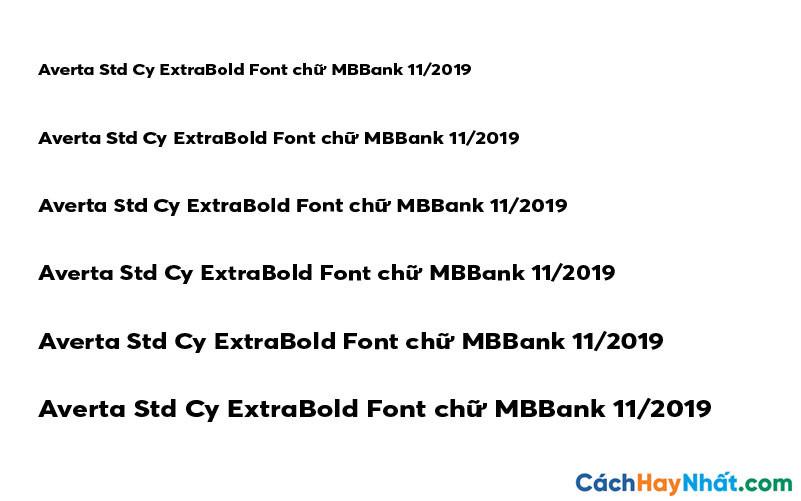 Averta Std Cy ExtraBold Font - MBBank