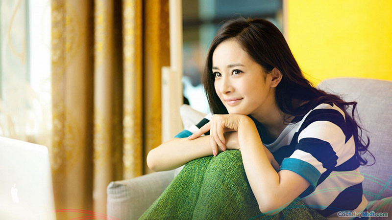 Ảnh gái China đẹp, mỉm cười