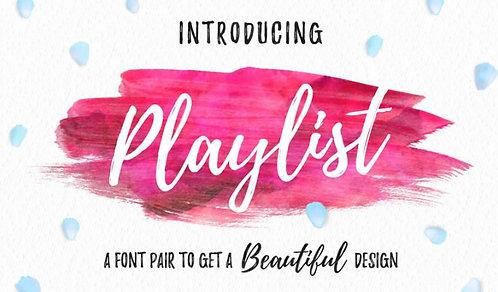 Download Phông Chữ Calligraphy - Playlist Font