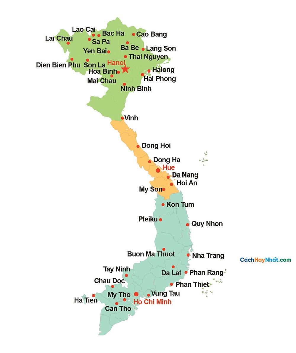 Bản Đồ Việt Nam File Vector Corel AI PDF Full