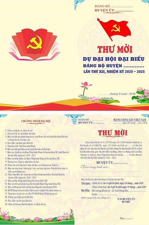 Invitation To The Party Congress Vector - Giấy Mời Đại Hội Đảng