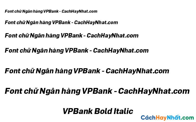 Font VPBank Bold Itatic