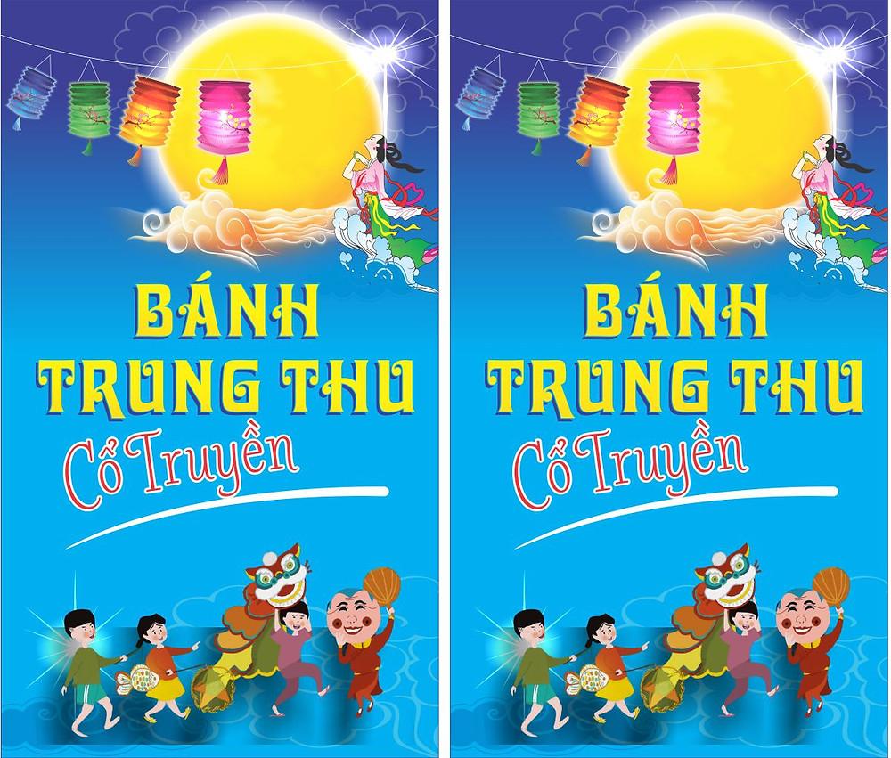 Banner Băng Rôn Trung Thu Vector