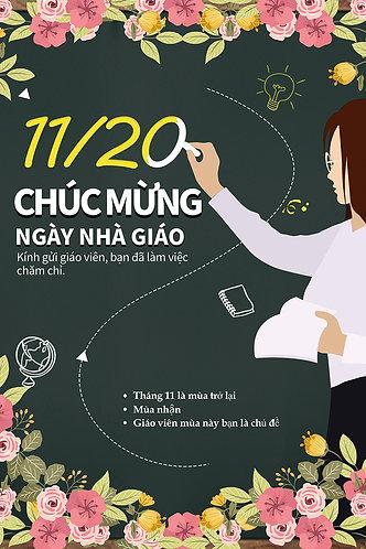 Poster Ngày Nhà Giáo Việt Nam 20/11 PSD Photoshop 25