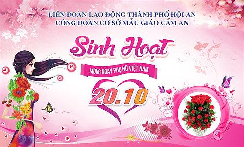 Phông Nền Background Ngày Phụ Nữ Việt Nam 20/10 Vector Corel CDR 21