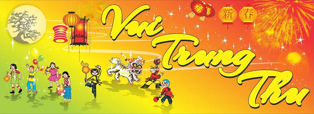 Background Backdrop Trung Thu Vector Corel CDR Part19