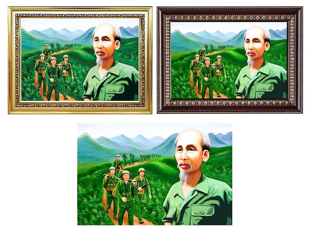 Tranh Ảnh Bác Hồ Hành Quân