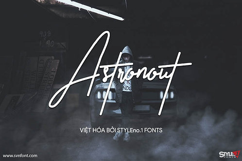 Download Font SVN-Astronout Việt Hóa - Font Chữ Ký - Font Viết Tay