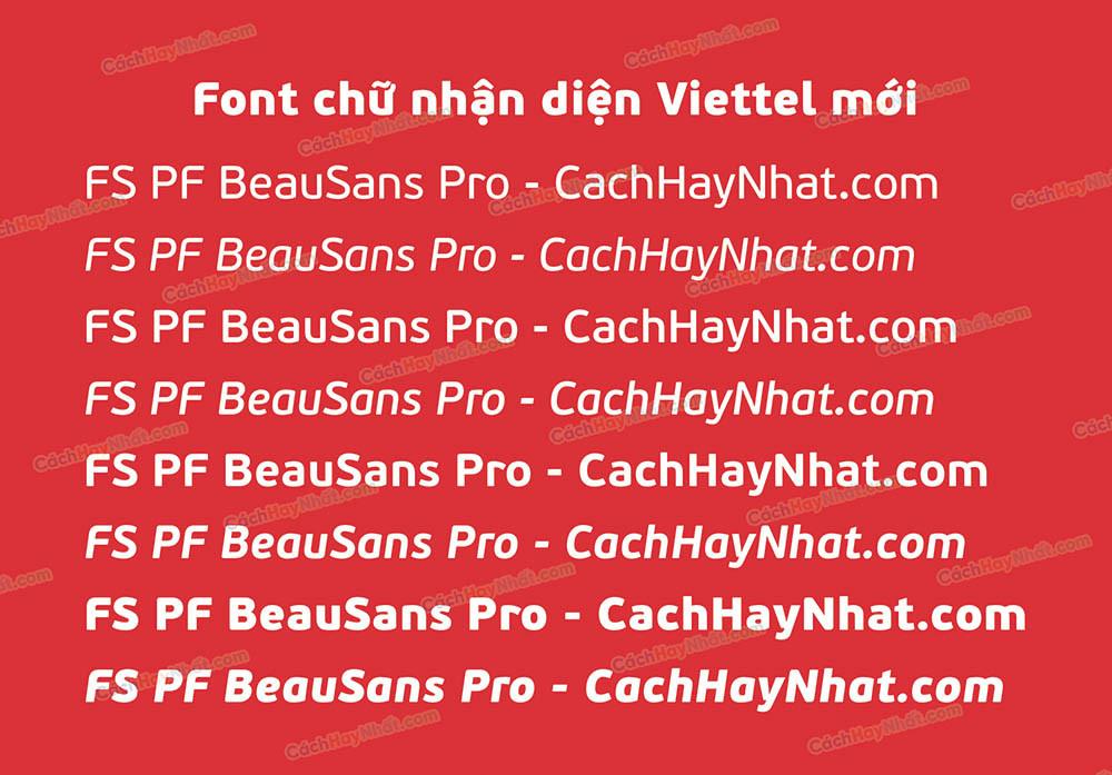 Font FS PF BeauSans Pro Việt Hóa - Font Viettel Mới 2021