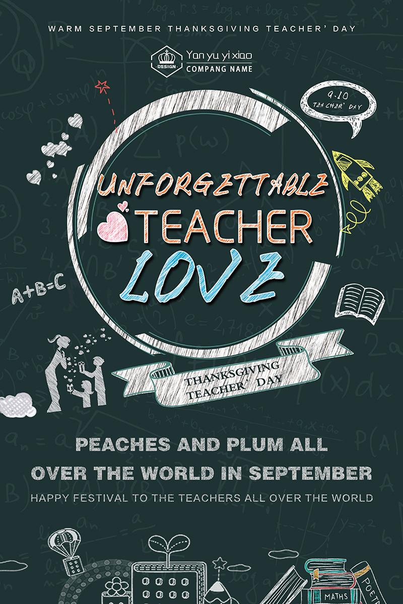 Poster Teacher's Day PSD Photoshop
