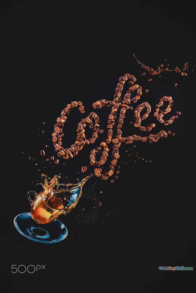Thực phẩm nghệ thuật quảng cáo ý tưởng ảnh chế tác cà phê của dina belenko