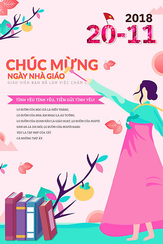 Poster Ngày Nhà Giáo Việt Nam 20/11 PSD Photoshop 21