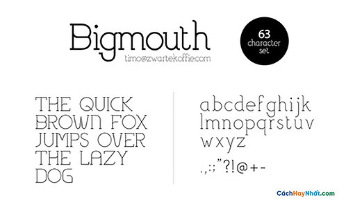 Font Bigmouth Light Download Free