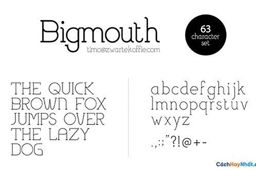 Font Bigmouth Light Download Free