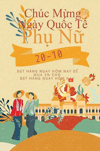 Phông Nền Background Ngày Phụ Nữ Việt Nam 20/10 PSD Photoshop 07