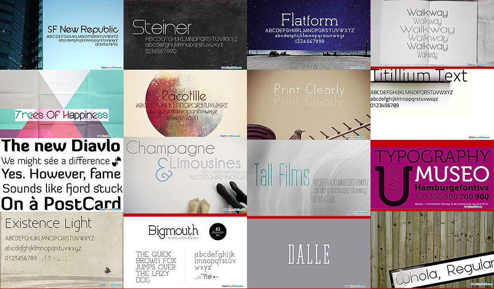 30 Beautiful Fonts For Your Minimalist Design