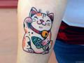 189 hình xăm Mèo Thần Tài đẹp và ý nghĩa cho Nam Nữ