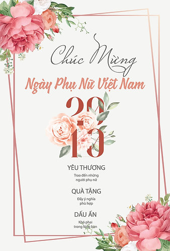 Phông Nền Background Ngày Phụ Nữ Việt Nam 20/10 Vector AI 15