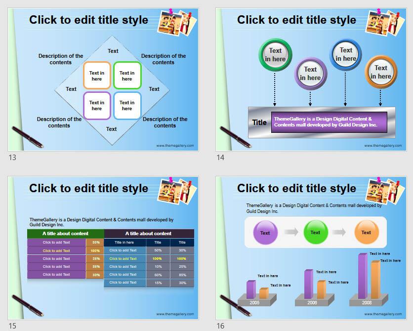 Download Powerpoint Template Free - 587TGp_School_light 14