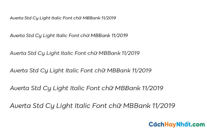Averta Std Cy Light Italic Font - MBBank