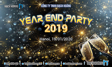 Backdrop Year End Party