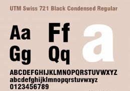 Tải Font UTM Swiss 721 Black Condensed Việt Hóa Free