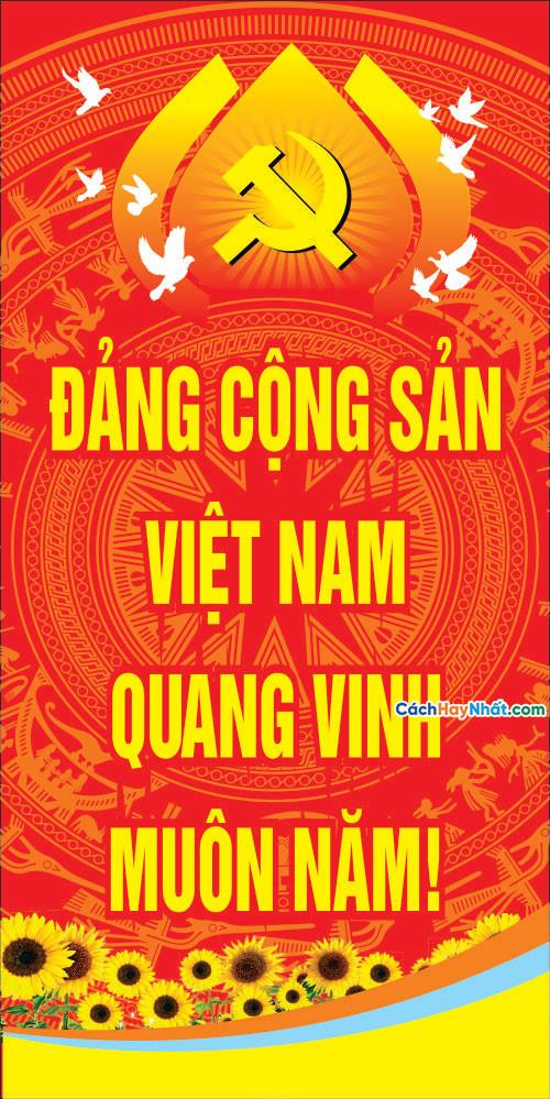 Băng Rôn Đại Hội Đảng Toàn Quốc Lần XIII File Vector Corel 01