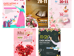 Download Poster Ngày Nhà Giáo Việt Nam 20/11 PSD Photoshop Part05