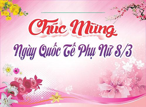 Phông Nền Background Ngày Phụ Nữ Việt Nam 20/10 Vector Corel CDR 26