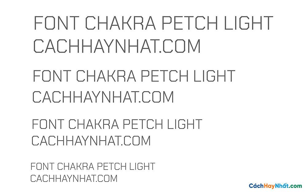Font Chakra Petch Light