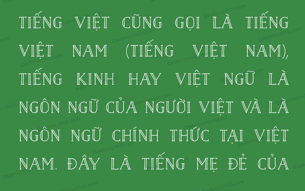 đoạn văn bản font SVN Naive Inline Bold Việt hóa