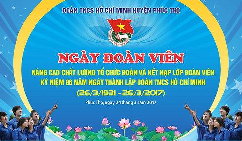 Phông Sân Khấu Ngày Đoàn Viên Vector Corel CDR
