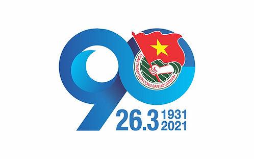 Logo Đoàn TNCS Hồ Chí Minh 90 Năm vector Corel CDR PNG