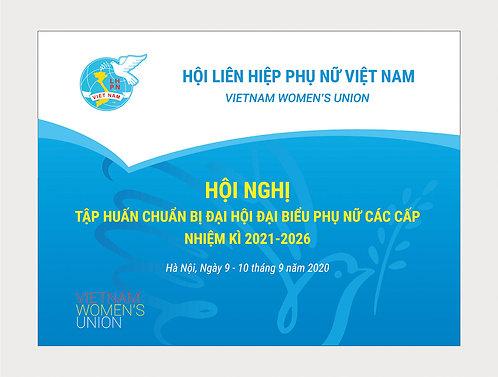 Backdrop Phông Hội Liên Hiệp Phụ Nữ Việt Nam File Vector CDR AI PDF